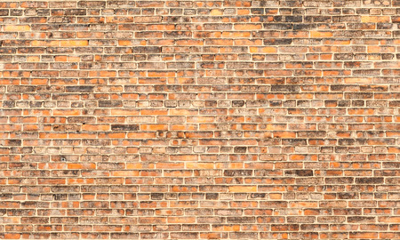 brickwork: The old red brick wall, use as background Stock Photo