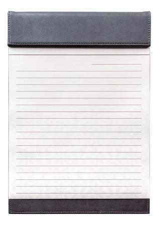 line lines luxury meeting: Blank notepad on the brown clipboard, for memorandum in meeting room.