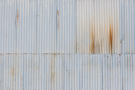 grunged: The grunged corrugated grey metal wall background. Stock Photo