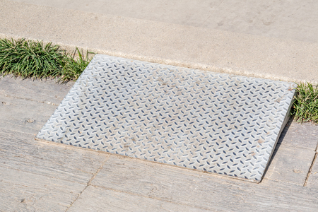ramp: Metal ramp for supporting disabled people wheelchair. Stock Photo