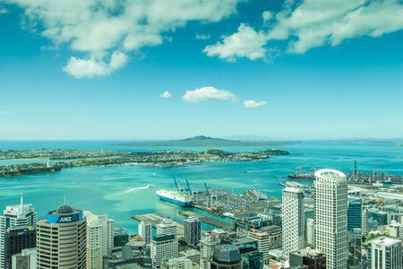 Auckland, New Zealand- December 12, 2013. Landscape view from Auckland skycraper.