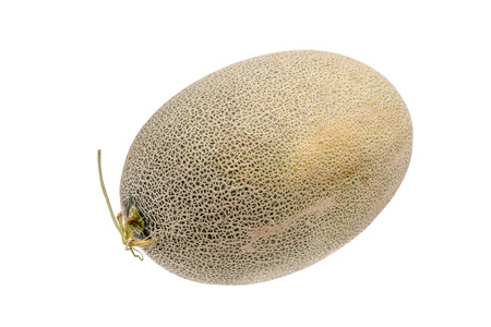 Hamigua melon (sweet cantaloupe melon) isolated on white background.