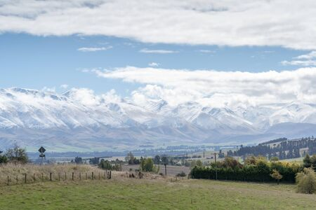 View from near Geraldine Fairlie Lookout point on Highway 79, Canterbury, New Zealand South Island