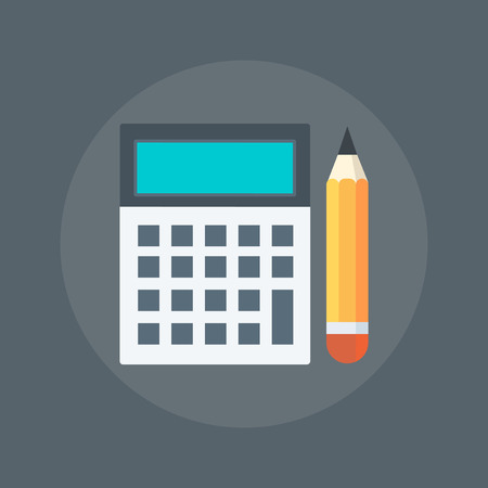 contabilidad: Contabilidad estilo plano, colorido, icono del vector para los gráficos de información, sitios web, medios de comunicación móvil y de impresión.