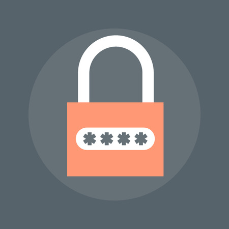 encryption icon: Data Encryption flat style, colorful, vector icon for info graphics, websites, mobile and print  media. Illustration