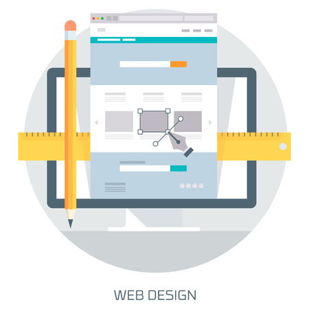 Web Design theme flat style, minimal, stylish colorful, vector icon for info graphics, websites, mobile and print media.