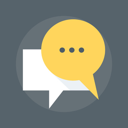 engagement: Messaging flat style, colorful, vector icon for info graphics, websites, mobile and print media.