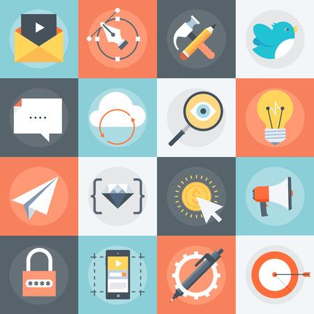 Advanced Web Icon Set Illustration