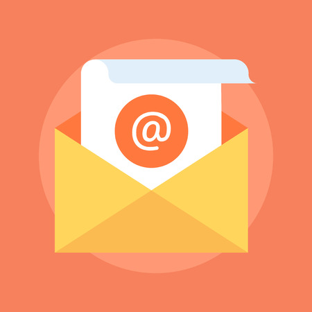 E-mail Marketing flat style, colorful, vector icon for info graphics, websites, mobile and print media