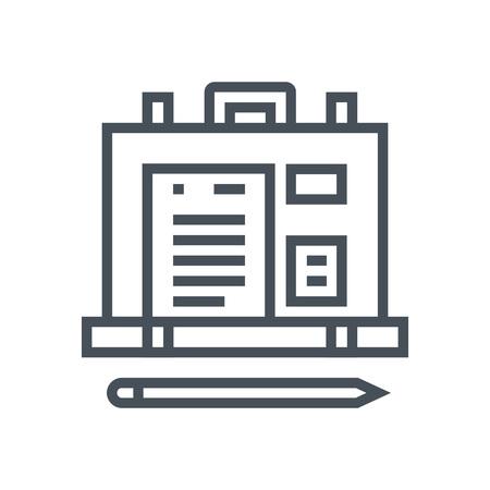 Maleta, icono de la cartera adecuada para información de gráficos, páginas web y medios impresos e interfaces. Línea de iconos de vectores. Foto de archivo - 55906264