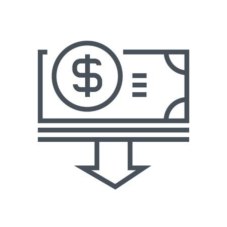 Bezuinigingen icon geschikt voor info graphics, websites en gedrukte media en interfaces. Line vector icon.