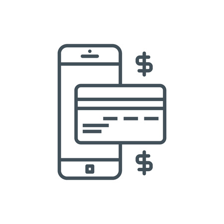 mobile banking: Mobile banking icon suitable for info graphics, websites and print media. Vector icon.