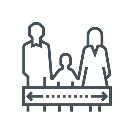 father in law: Child custody icon suitable for info graphics, websites and print media and  interfaces. Line vector icon. Human face, head, line vector icon.