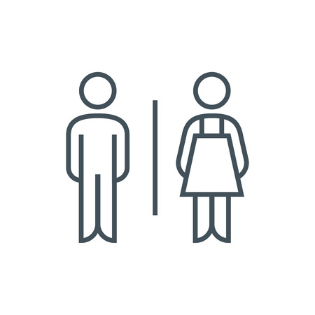 genders: Toilet, genders icon suitable for info graphics, websites and print media. Vector icon.