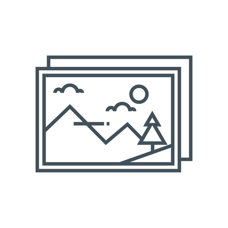 Gallery icon suitable for info graphics, websites and print media and  interfaces. Line vector icon.