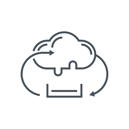 Cloud sync icon suitable for info graphics, websites and print media and  interfaces. Line vector icon.
