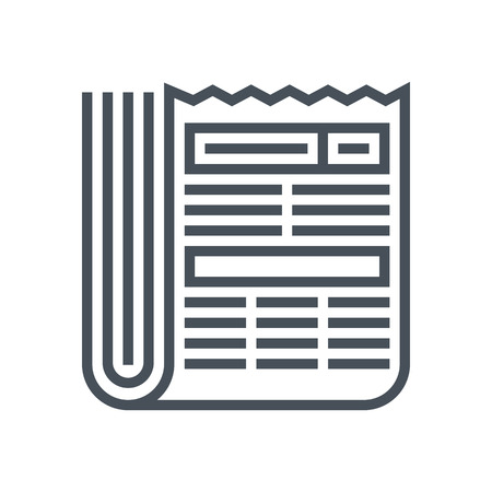 Newspaper icon suitable for info graphics, websites and print media and  interfaces. Line vector icon.
