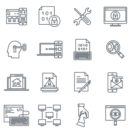 synchronize: Transfer, synchronize icon set suitable for info graphics, websites and print media and  interfaces. Line vector icon set. Illustration