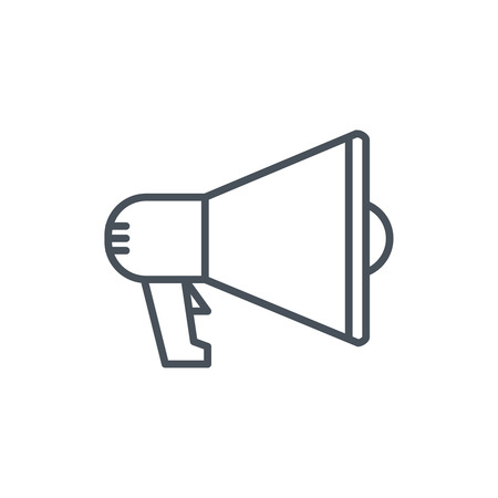 Digital marketing, megaphone icon suitable for info graphics, websites and print media and  interfaces. Line vector icon. Illustration