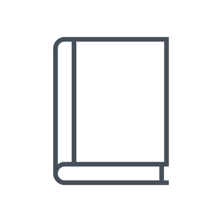 is closed: Book, study icon suitable for info graphics, websites and print media and  interfaces. Line vector icon.