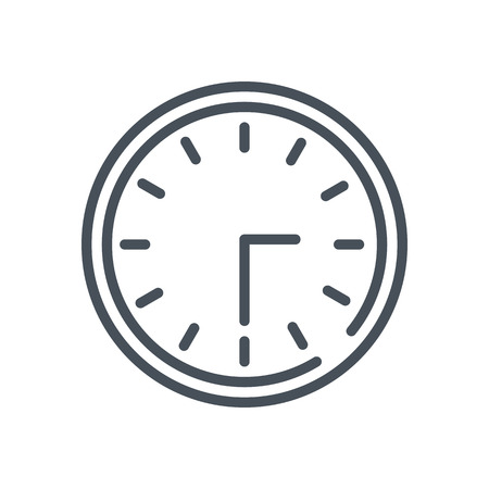 flexible business: Clock icon suitable for info graphics, websites and print media and  interfaces. Hand drawn style, pixel perfect line vector icon.