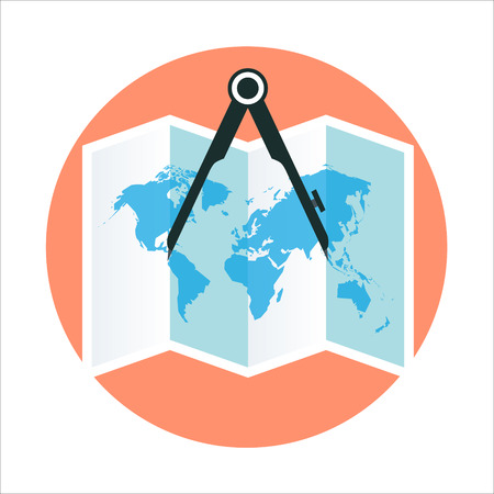 geography: Geography theme, flat style, colorful, vector icon for info graphics, websites, mobile and print media.