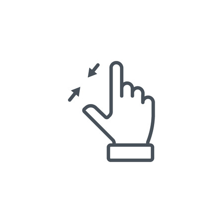 multi touch: Multi touch, hand, finger, gesture icon suitable for info graphics, websites and print media and  interfaces. Line vector icon.