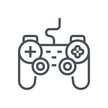 game controller: Game controller icon suitable for info graphics, websites and print media and  interfaces. Line vector icon.