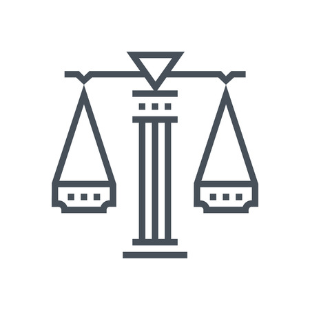 Law scale icon suitable for info graphics, websites and print media and  interfaces. Line vector icon. Human face, head, line vector icon.