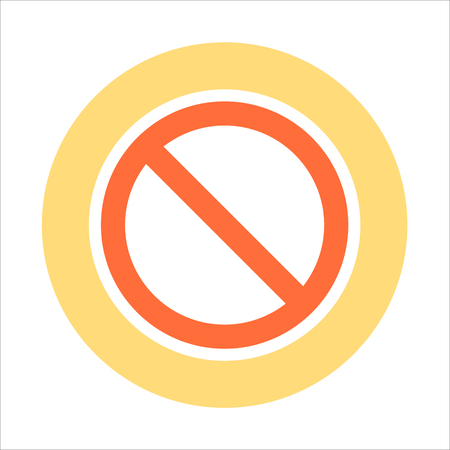access restricted: Restricted access flat style colorful, vector icon for info graphics, websites, mobile and print media.