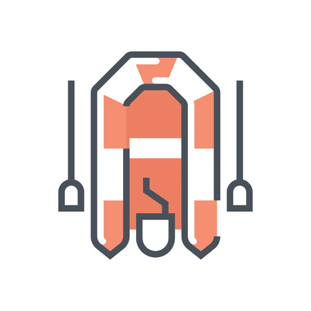 outboard: Boat icon suitable for info graphics, websites and print media and  interfaces. Line vector icon.