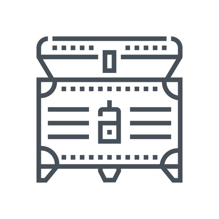 Treasure icon suitable for info graphics, websites and print media and  interfaces. Line vector icon.