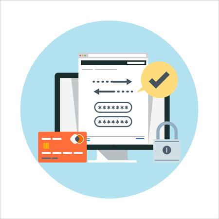 transactions: Security and transactions flat style, colorful, vector icon for info graphics, websites, mobile and print media.