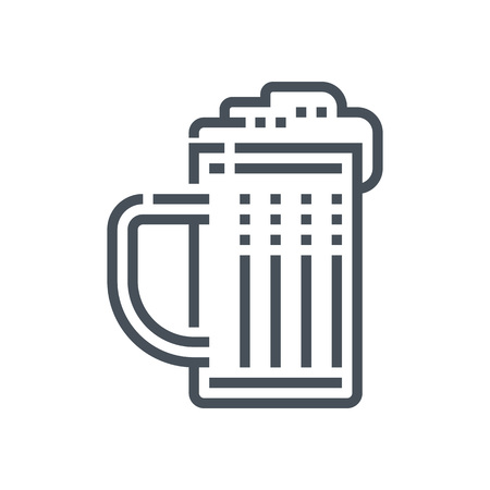 beer belly: Beer icon suitable for info graphics, websites and print media. Vector icon.