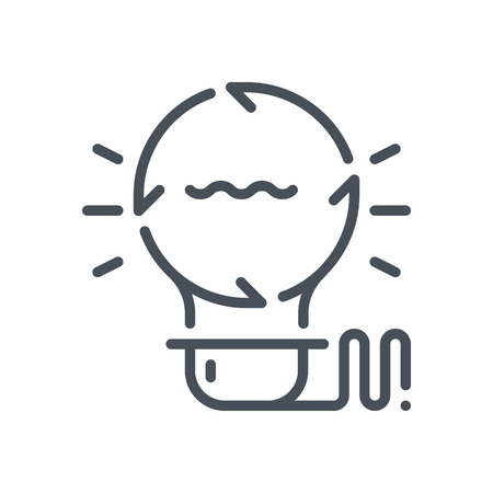 idea generation: Idea generation icon suitable for info graphics, websites and print media and  interfaces. Hand drawn style, pixel perfect line vector icon.