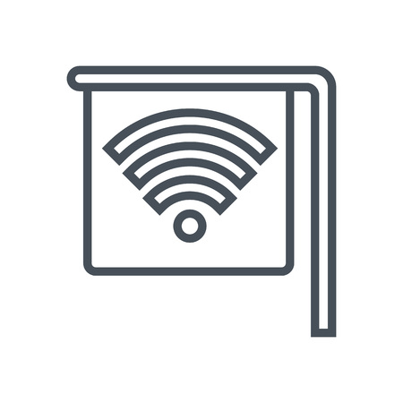 wireless signal: Wi-fi spot icon suitable for info graphics, websites and print media and  interfaces. Line vector icon. Illustration