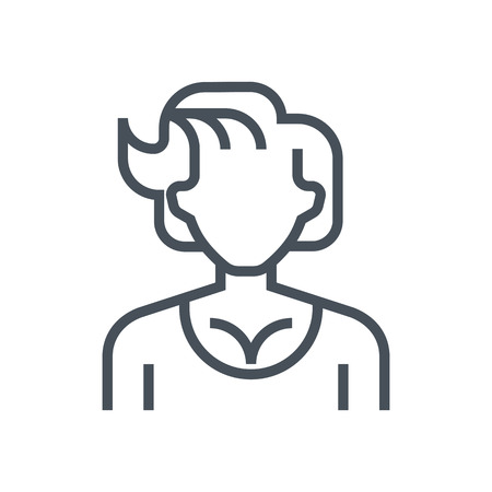 actress: Actress avatar icon suitable for info graphics, websites and print media and  interfaces. Line vector icon.