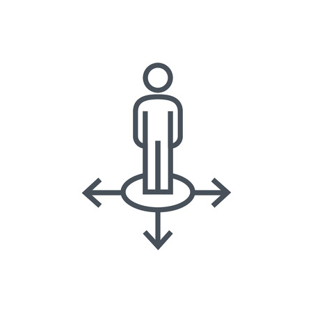 directions icon: Directions icon suitable for info graphics, websites and print media. Colorful vector, flat icon, clip art.