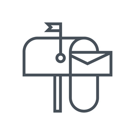 E-mail icon suitable for info graphics, websites and print media and  interfaces. Line vector icon. 向量圖像