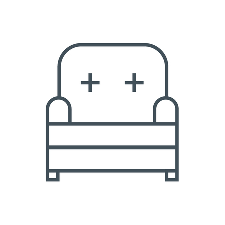 royal house: Furniture, seat icon suitable for info graphics, websites and print media and  interfaces. Line vector icon.