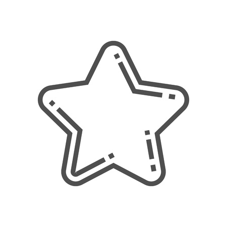 rating: Star, rating icon suitable for info graphics, websites and print media and  interfaces. Line vector icon.
