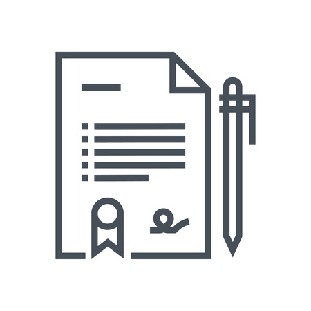 general insurance: Insurance paper, health report icon suitable for info graphics, websites and print media and  interfaces. Line vector icon.