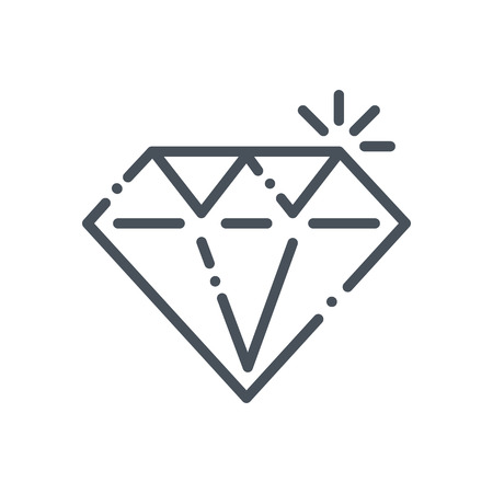 royal person: Diamond, premium quality icon suitable for info graphics, websites and print media and  interfaces. Hand drawn style, line, vector icon.