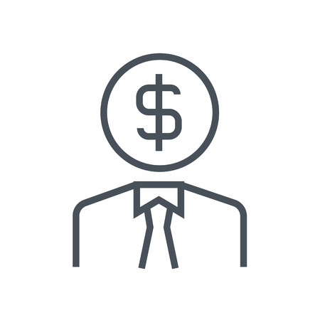 Employee wages icon suitable for info graphics, websites and print media. Colorful vector, flat icon, clip art.