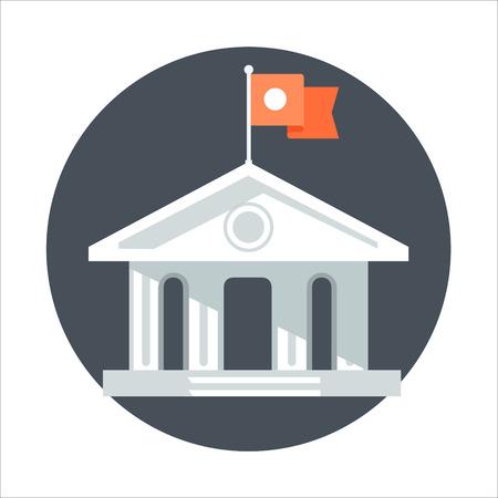 Thème de l'Université, style plat, coloré, icône de vecteur pour les graphiques d'informations, les sites Web, les médias mobiles et imprimés. Banque d'images - 55907398