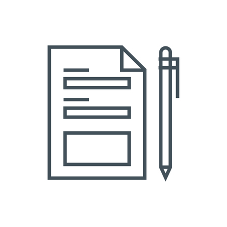 Contact form icon suitable for info graphics, websites and print media and  interfaces. Line vector icon.
