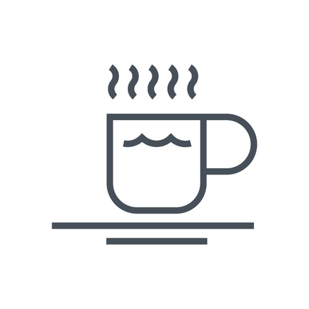mug shot: Espresso icon suitable for info graphics, websites and print media and  interfaces. Line vector icon. Illustration