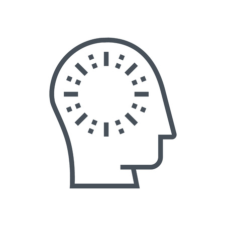 disappearance: Clean mind, forget icon suitable for info graphics, websites and print media and  interfaces. Line vector icon. Human face, head, line vector icon.