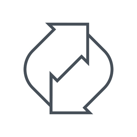 renew: Refresh renew icon suitable for info graphics, websites and print media and  interfaces. Line vector icon.