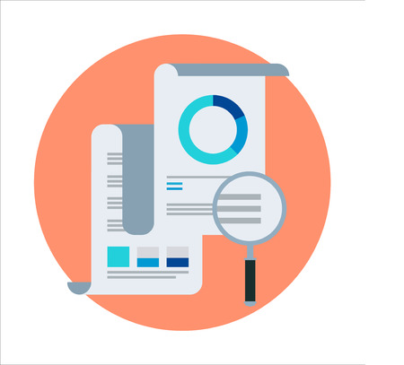 report icon: Statistics, report theme, flat style, colorful, vector icon for info graphics, websites, mobile and print media.